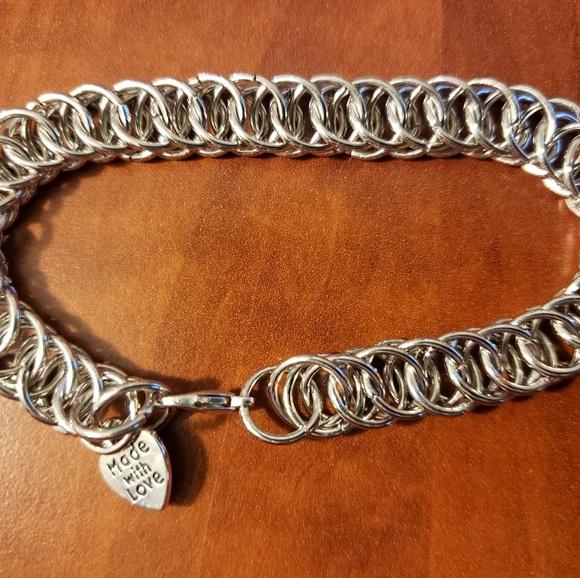 eebc8439b482b Handmade Half Persian Chainmaille Bracelet